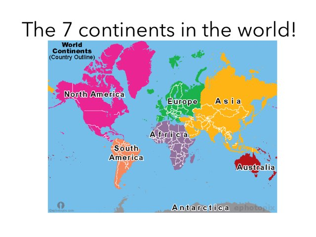 The World continents  by Tanner Greene