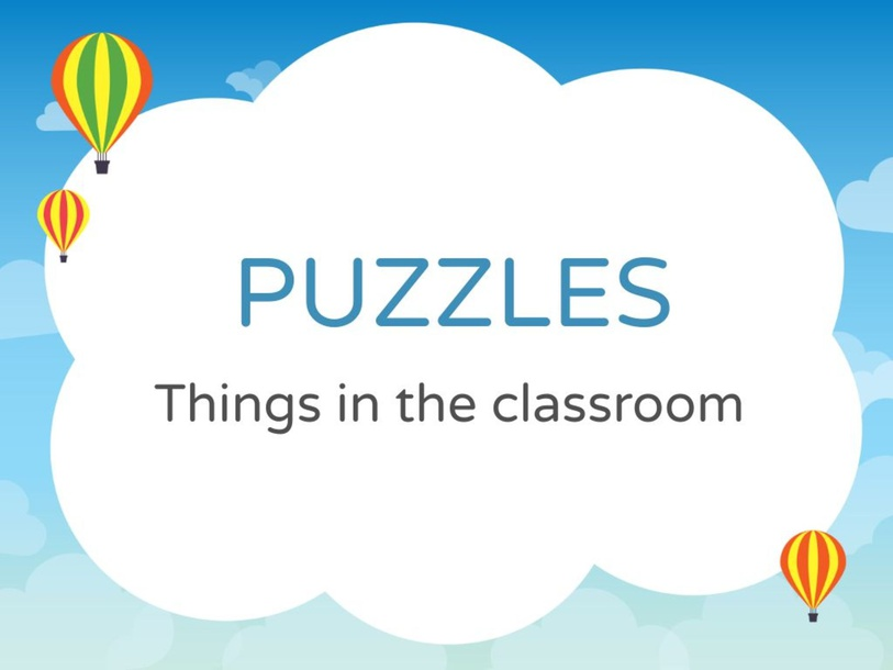 Things in classroom puzzles by Nurul Afiah Rosli