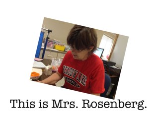 This Is Mrs. Rosenberg. by Susan Rickert