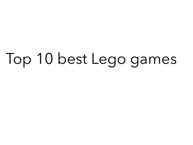 Top 10 Best Lego Games by mcpake family