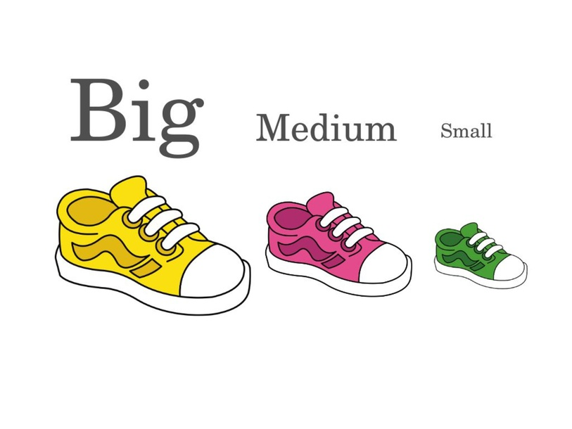 Touch the correct size! Big, Medium, Small by Emily Fam