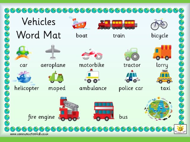 Transport Word Match by Deborah Fletcher