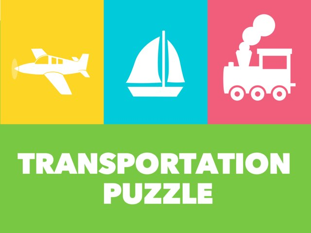 Transportation Puzzle by Tiny Tap