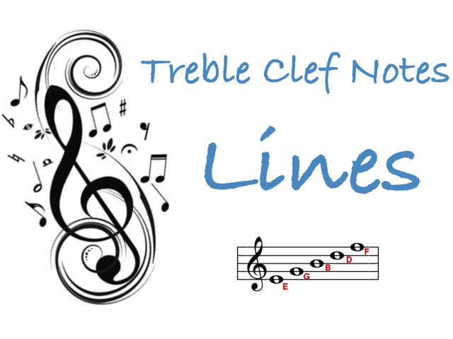 Treble Clef Notes - Lines by Jennifer Wentworth