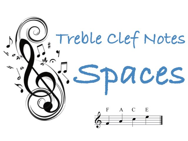 Treble Clef Notes - Spaces by Jennifer Wentworth