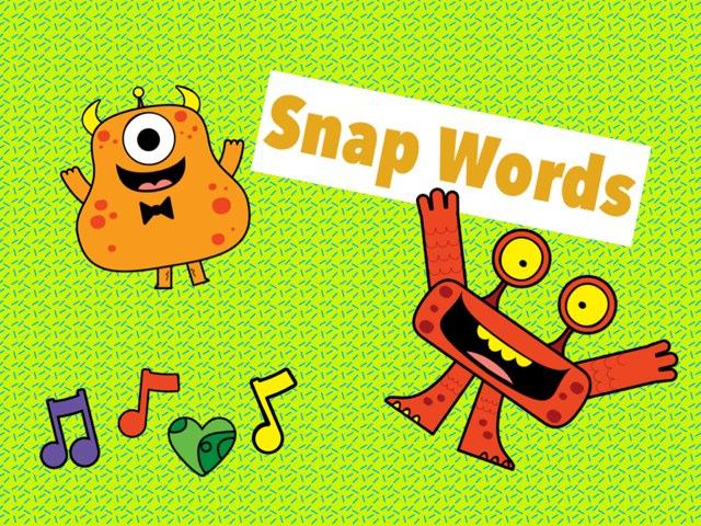 Tricky Snap Words  by gretchen antholz-meyerson