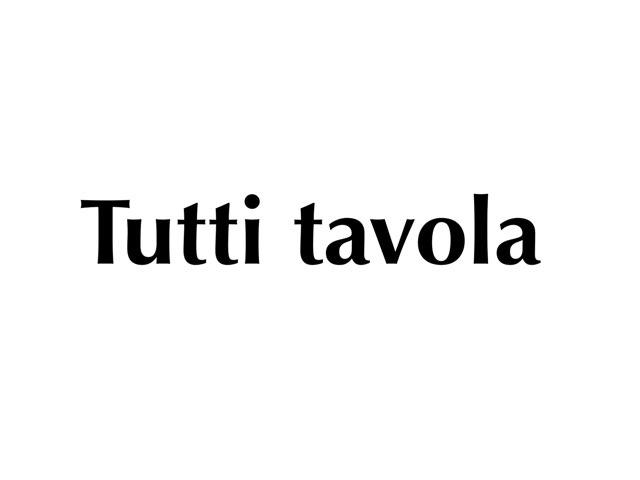 Tutti A Tavola by Adriano Scotti