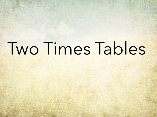 Two Times Tables by Nicole Pestell