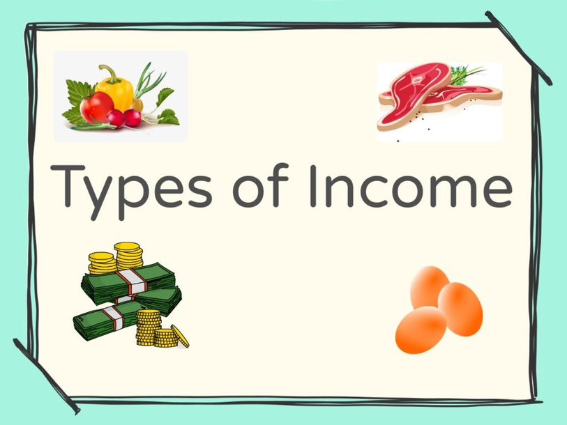 Types of Income by Jean Nads