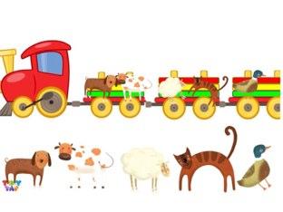 Vláčik so zvieratkami by Zuza Bluza