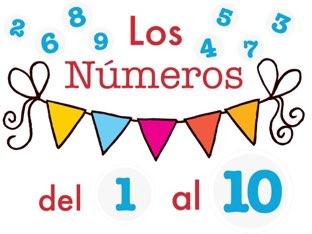 Los Números Del 1 Al 10 #AugustApps by Cristina Mella