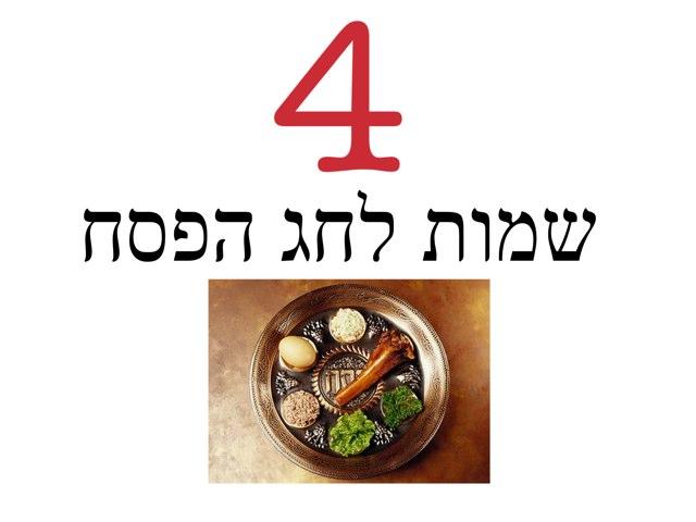 4 שמות לחג הפסח by Beit Issie Shapiro