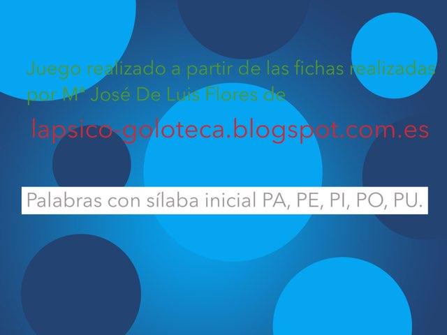 Sílaba Inicial Pa, Pe, Pi, Po, Pu. by Jose Sanchez Ureña