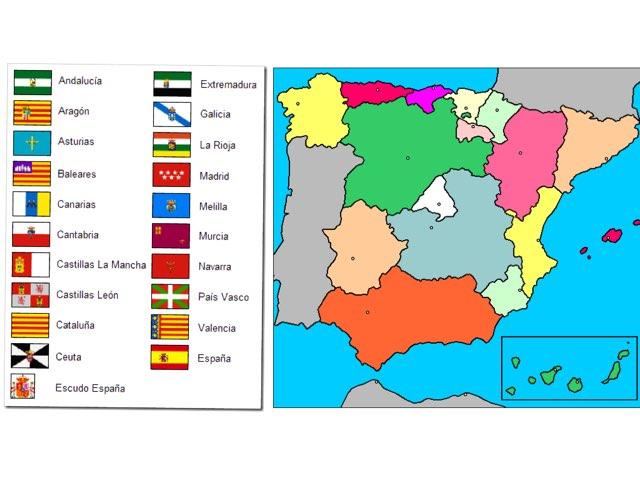 Mapa y banderas de España  by Myriam Torres