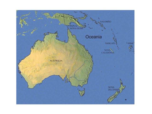 Mapa Oceanía  by erika duque Yepes