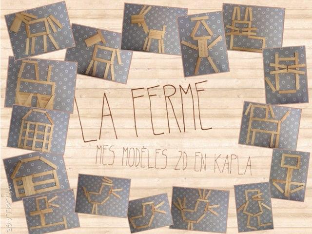 La Ferme, Modèles 2d En Kaplas by Alice Turpin