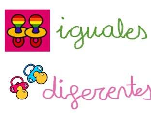 Conceptos Básicos Igual-diferente by Quino Asensio