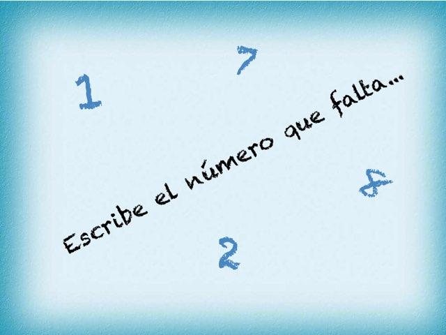Coloca  El Número Que Falta by Zoila Masaveu