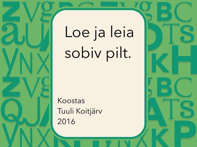 Sõna lugemine kirjatähtedes by Tuuli Koitjärv
