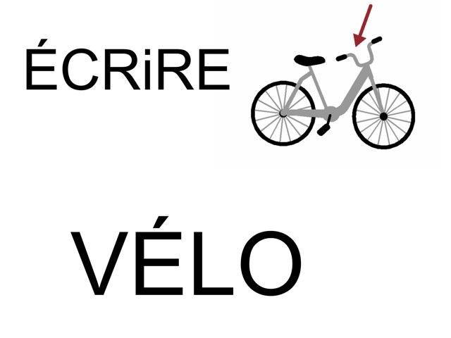 Écrire VÉLO by Valerie Escalpade