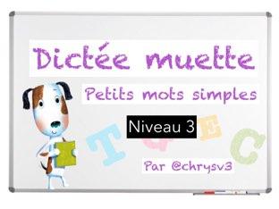 Dictée Muette Niveau 3 by Christelle Victorin
