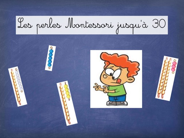 Les Perles Montessori Jusqu'à 30 by Seve Haudebourg