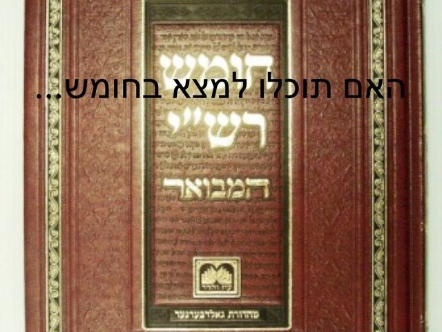 מי מכיר את החומש? by Moshe Rosenberg