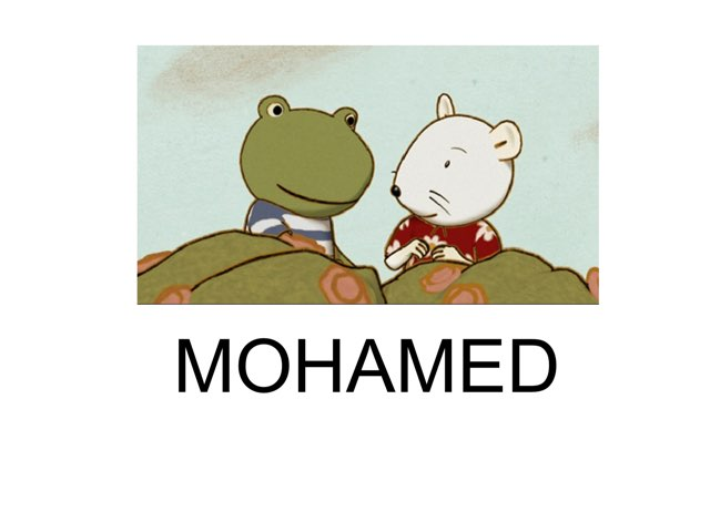 Prénom de Mohamed by Sophie Escalpade