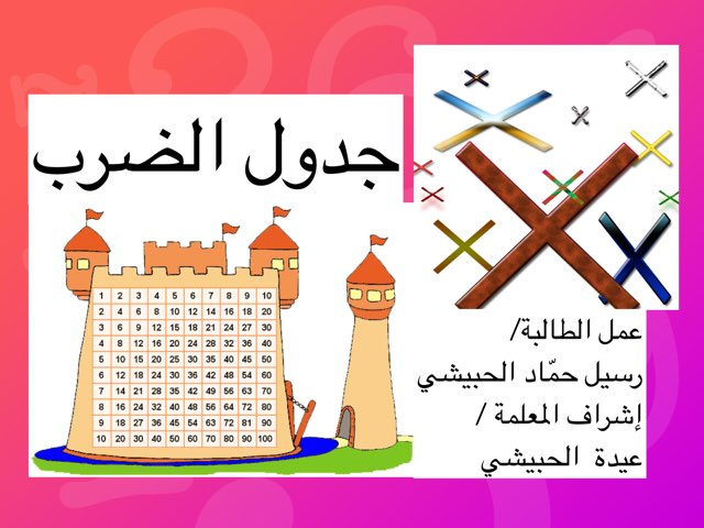 جدول الضرب  by Hadeel alteleqe