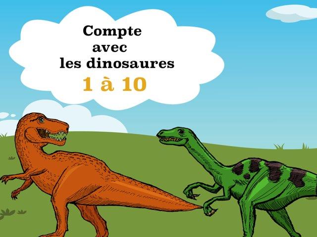 Compte 1 à 10 avec les dinosaures by Sylvianne Parent