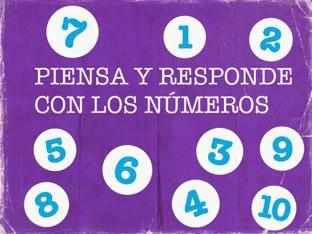 Piensa Y Responde Con Los Números by Diana Perdomo