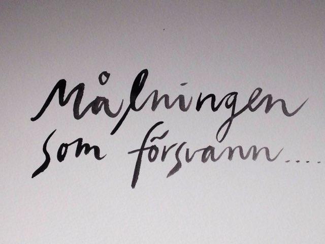 Målningen Som Försvann  by Moa Lönn