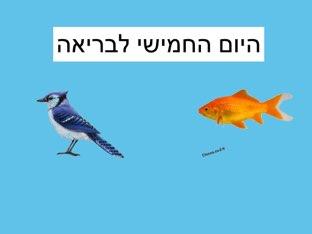 היום החמישי לבריאה by Yael levavi
