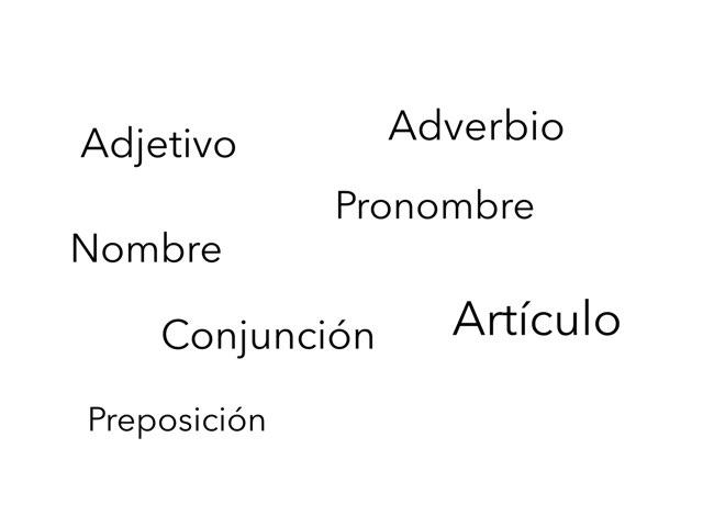 Categorías Gramaticales by Curso CFTIC