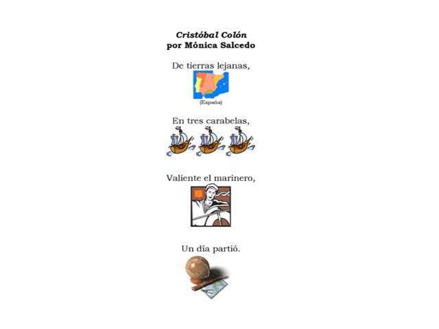 Poema de Colón by Allison Shuda