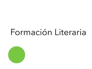 Formación Literaria  by Esther Cortés Martínez