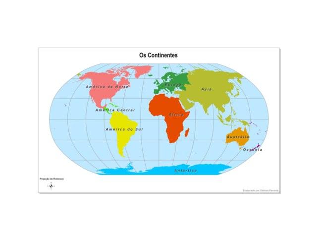 Quebra-cabeça Continentes by Lilian Costa