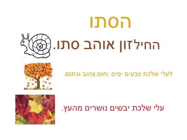 הסתיו by Nadine Lasry
