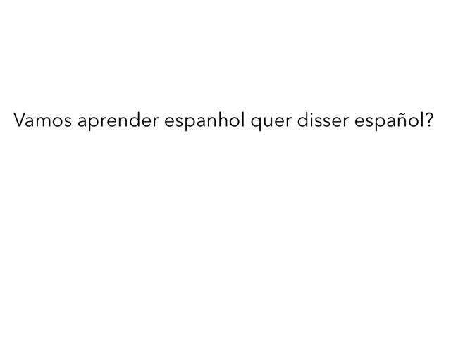 Aula De Español by Evellyn Rangel