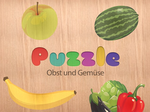 Obst & Gemüse Puzzle by Tiny Tap
