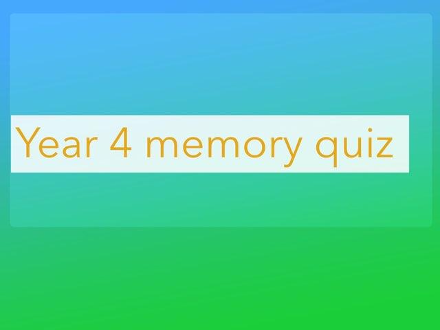 Rowan's Quiz by Mr Matthews