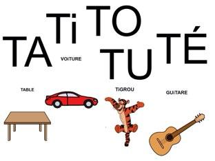 Mots à compléter avec TA Ti TO TU TÉ by Valerie Escalpade