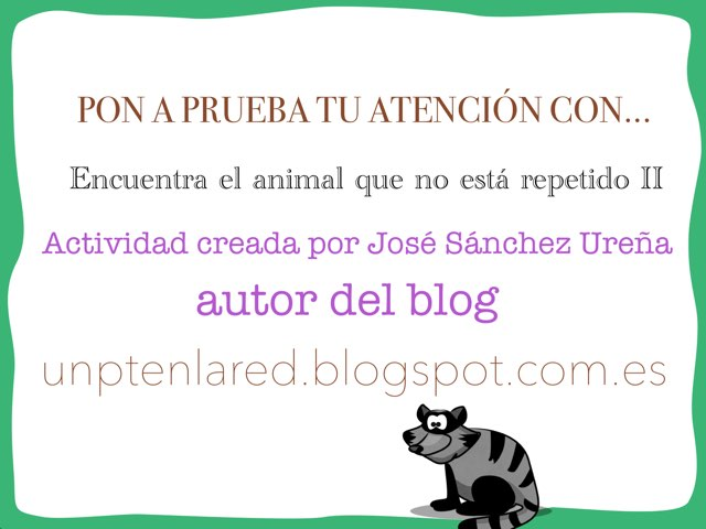 Encuentra El Animal Que No Está Repetido II by Jose Sanchez Ureña