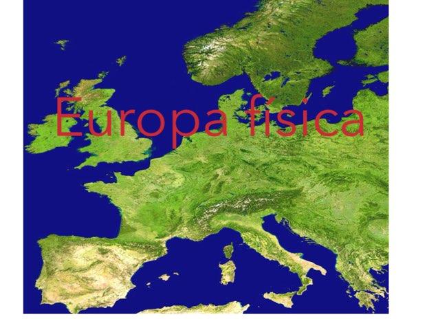 Europa física by Teresa Ibàñez