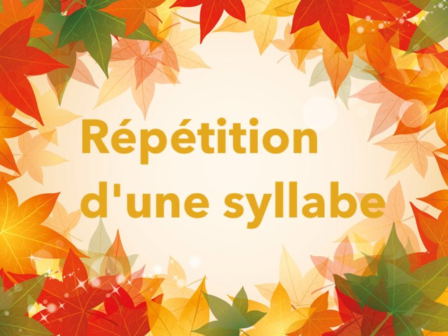 Répétition D'une Syllabe by Alice Turpin