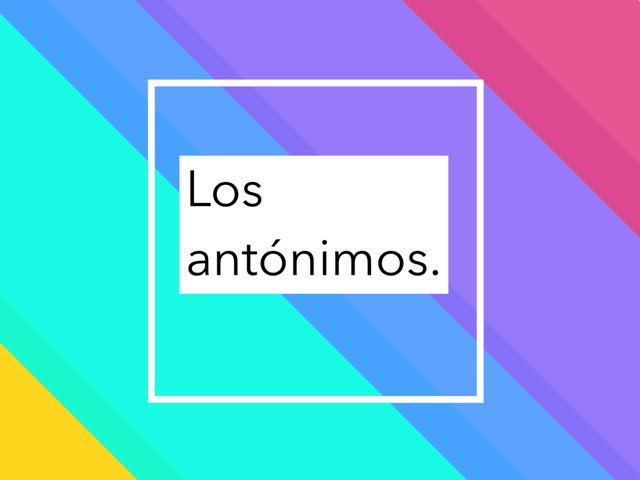 Los Antónimos  by Víctor Cabrera