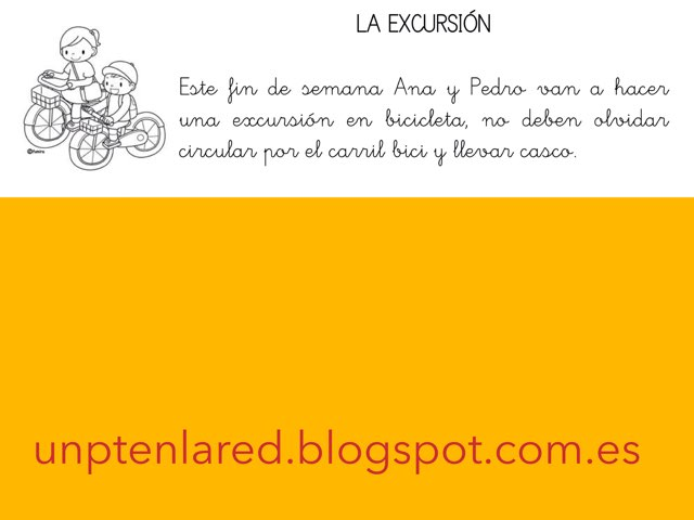 Comprensión Lectora: La Excursión. by Jose Sanchez Ureña