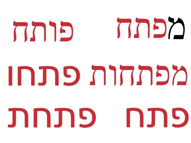 זיהוי מילה כתובה3 by Lina  Avraham Rabukhin