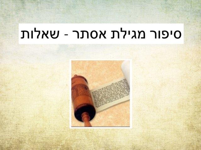 סיפור מגילת אסתר שאלות by Efrat Ilan
