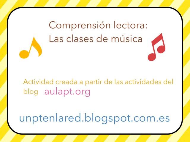 Comprensión Lectora. Clases De Música. by Jose Sanchez Ureña